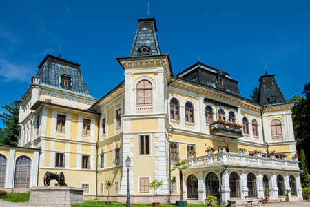 Betliar mansion building, Slovakia, travel destination. Architectural theme.