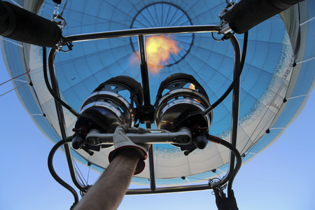 gas burner: Hand adhere to the gas burner of  air balloon