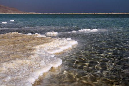 incidental people: coastline from salt in the Dead Sea.