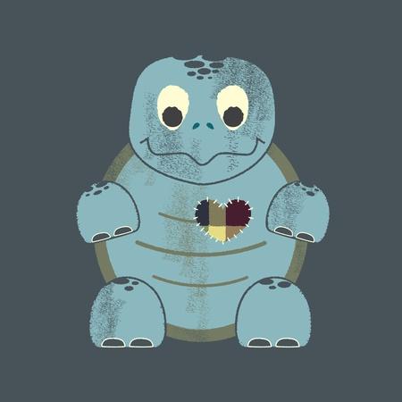 beck: Valentine Letterpress turtle Illustration