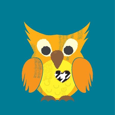 beck: Valentines Letterpress Owl