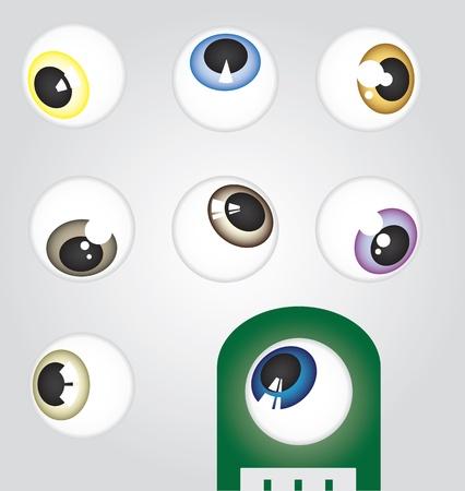Eyeballs at angle Ilustração