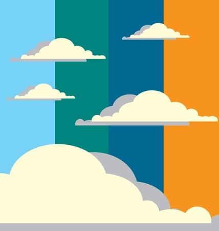 Cloudy Sky Stock Vector - 13235445