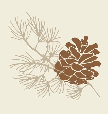 Pinecone Branch Vector