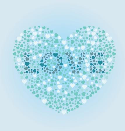Love Heart Stock Vector - 13596795