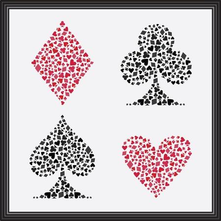 playing card symbols: Trajes de Naipes
