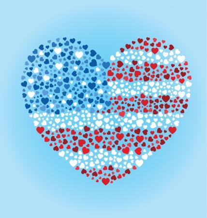 Amerikaanse Hart van de Vlag Stock Illustratie