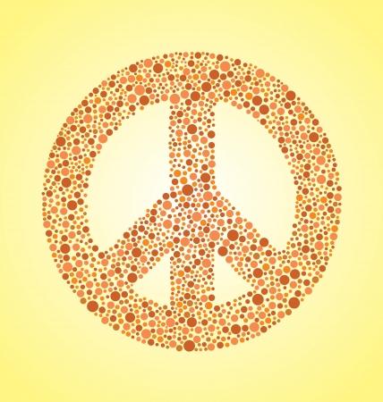 flower power: Peace Sign Illustration