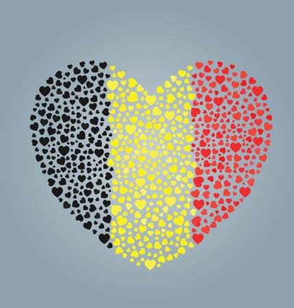 Belgium Flag Heart Stock Vector - 13718052