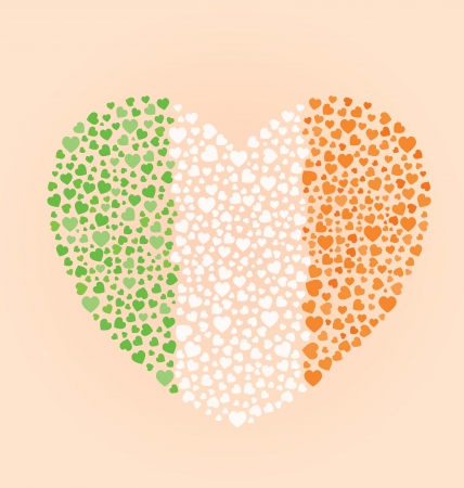 Irish Flag Heart Vector