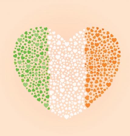 Irish Flag Heart Vector