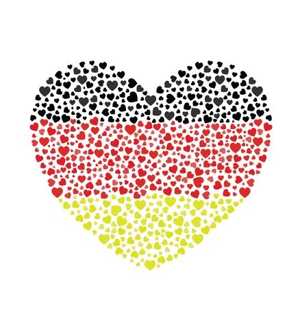 Germany Flag Heart Stock Vector - 13718054