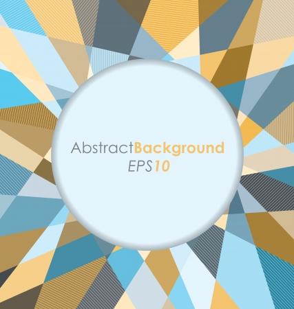 Round Diamond Abstract Background Illusztráció