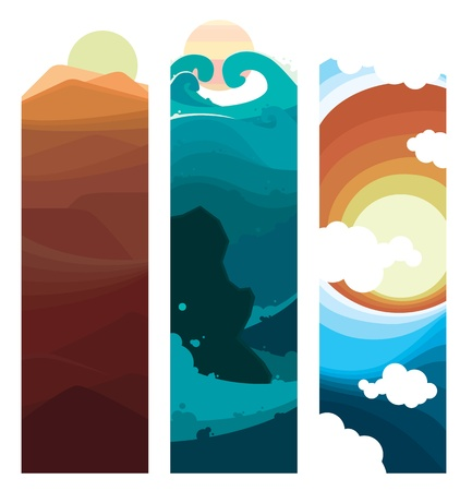 Nature Layer Bookmarks Vector