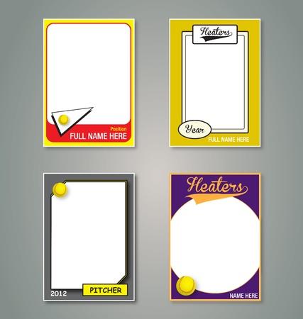 softbol: Softbol marcos de cartas coleccionables