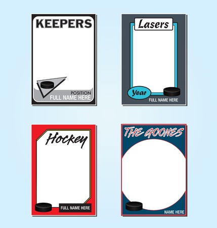 Hockey Trading Card Picture Frames Vector