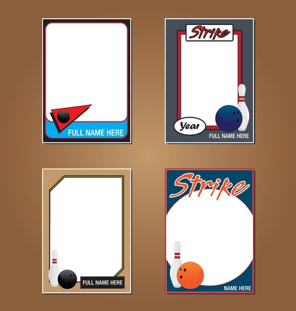 ten pin bowling: Bowling Trading Card Picture Frames