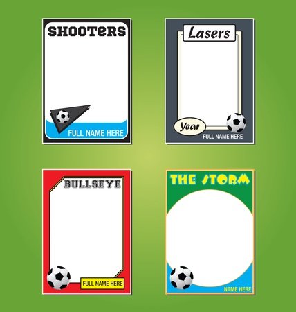 Soccer/Futbol Trading Card Picture Frames Stock Vector - 13903784
