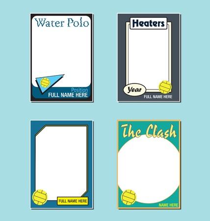 waterpolo: Water Polo de comercio Marcos Picture Card Vectores