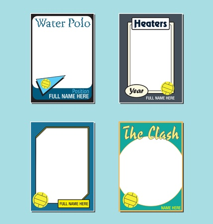 polo ball: Water Polo Trading Card Picture Frames