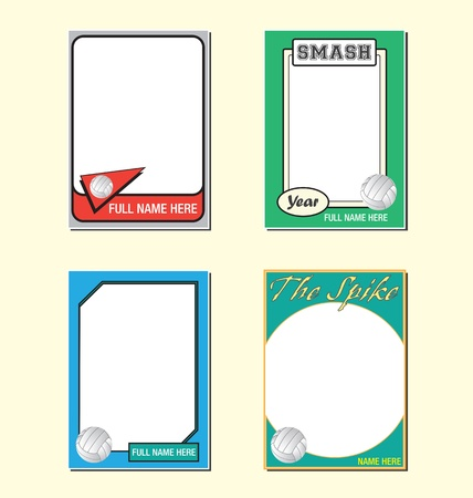 picture card: Volleyball Trading Card Picture Frames