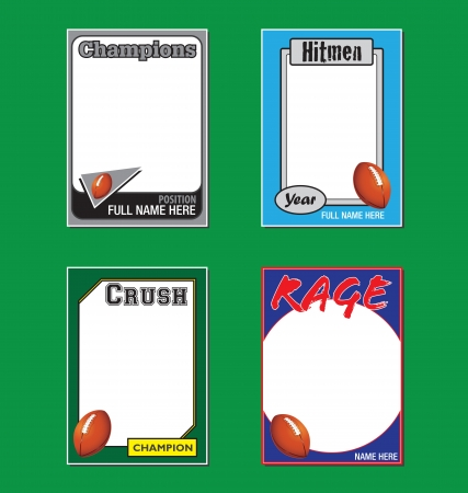 Football Trading Card Picture Frames Vector