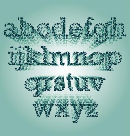 Vanishing Colorblind Font Ilustração