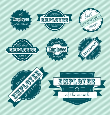 Set: Employee of the Month Labels Vector