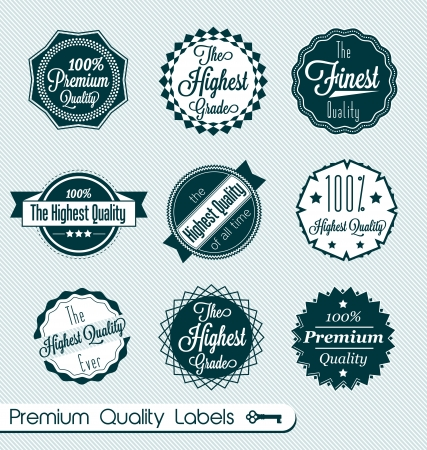 highest: Set of Premium Quality Themed Labels