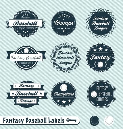 allstar: Set of Fantasy Baseball Labels