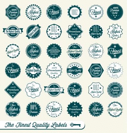 Najwyższej jakości i znaki jakości Premium Ilustracja
