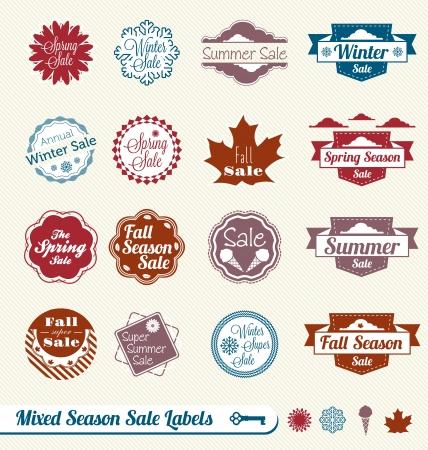 セットラベル混合季節ショッピング販売