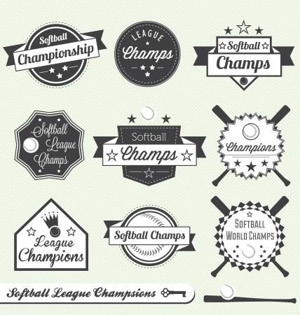 softbol: Softbol Liga de Campeones Etiquetas