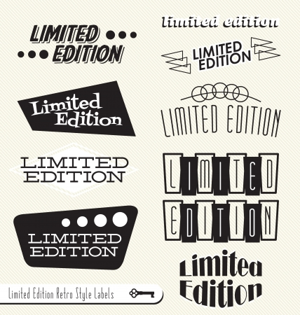 Set: Limited Edition Vintage Style Headers and Banners or Labels Stok Fotoğraf - 14692952