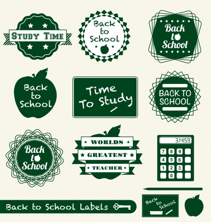 Vector Set: Back to School Labels and Badges Vector