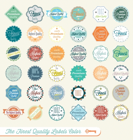 quality seal: The Finest Quality Stamps and Buttons Illustration