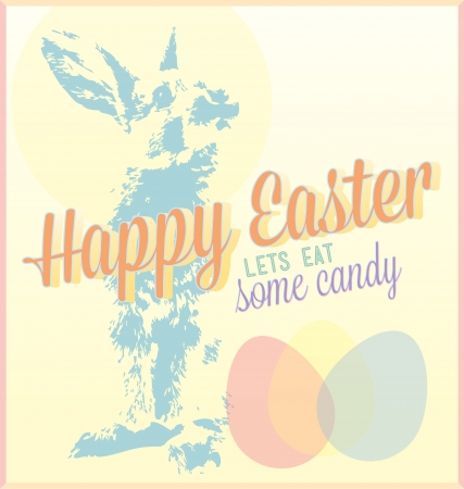 Vintage Happy Easter Card and Background Stock Vector - 17057605