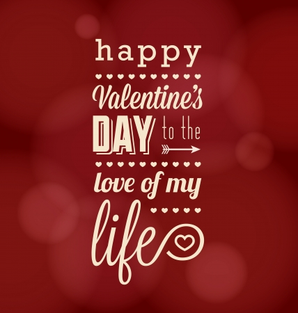 Retro Happy Valentine s Day Card Vector