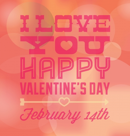 I Love You Happy Valentine s Day Card and Wallpaper Stock Vector - 17096748