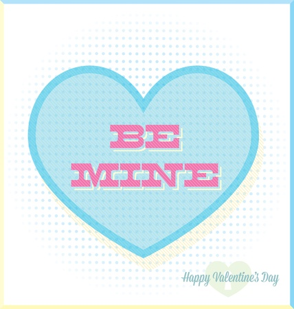Be Mine Valentine s Day Heart Candy Abstract Vector