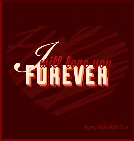 I Will Love You Forever Valentine s Day Card Stock Vector - 17096752
