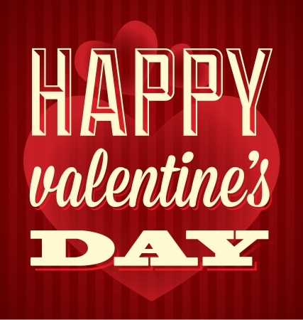 Classic Happy Valentine s Day Card and Wallpaper Stock Vector - 17123003