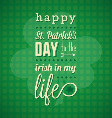 Happy St Patricks Day Card and Wallpaper Vector