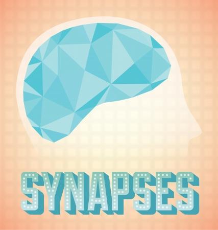 zenuwcel: Abstract Brain Synapsen Activiteit icoon en Behang Stock Illustratie
