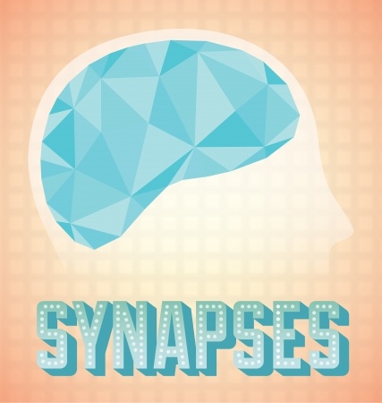 Abstract Brain Synapses Activity Icon and Wallpaper Vector
