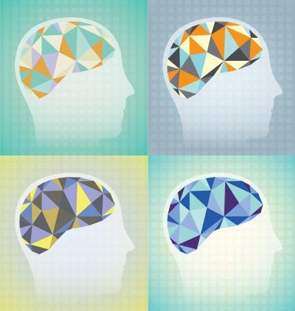 talamo: Resumen gr�fico de actividad cerebral Vectores