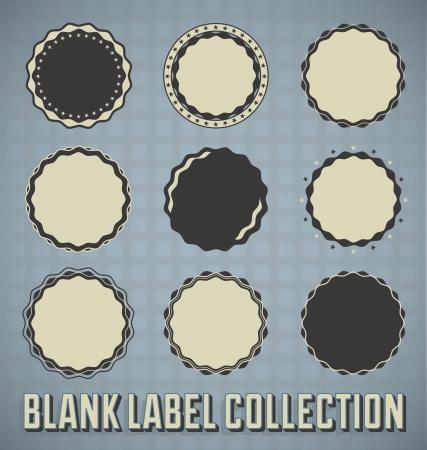 Set: Retro Blank Labels and Seals Illustration