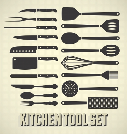 meat knife: Kitchen Utensils Set