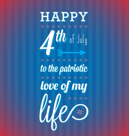 Happy Fourth of July Card Vector