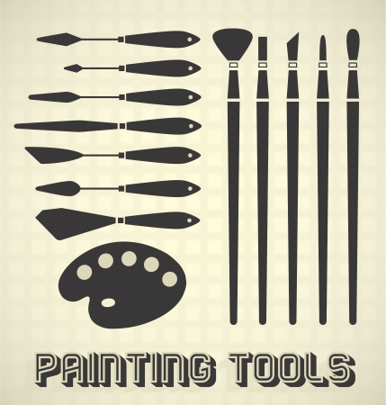 Painting Tools Stock Vector - 18662021
